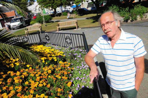Dorset Echo: Councillor Ray Nowak is concerned about budget cuts to park service which could affect the future of the gardens at Easton