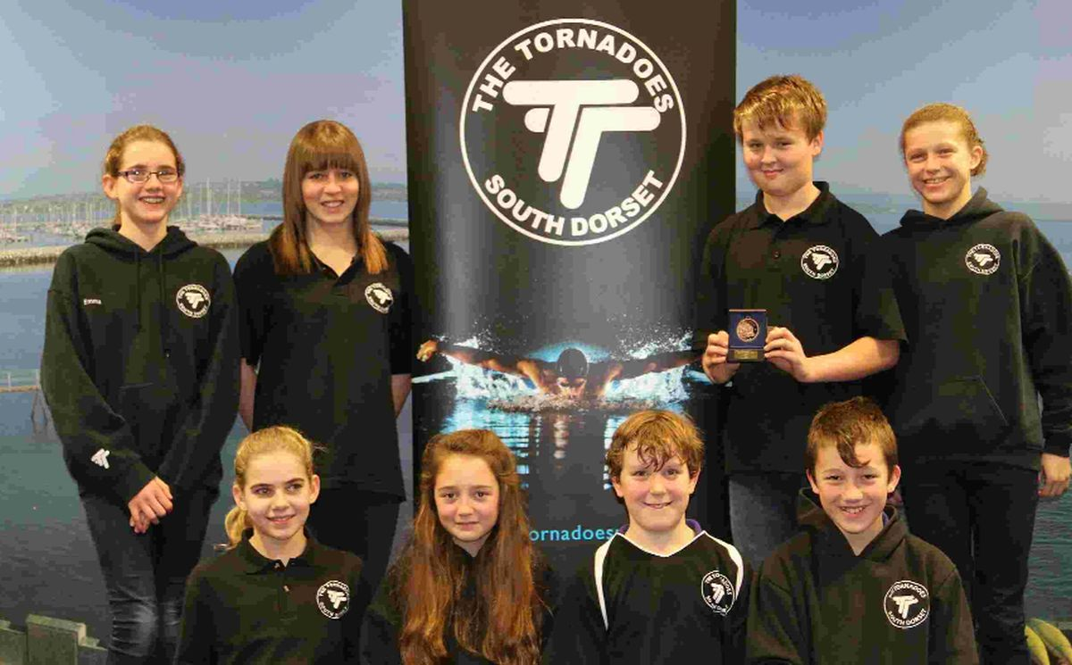 PROUD SWIMMERS: Tornadoes of South Dorset at Dorchester Leisure Centre