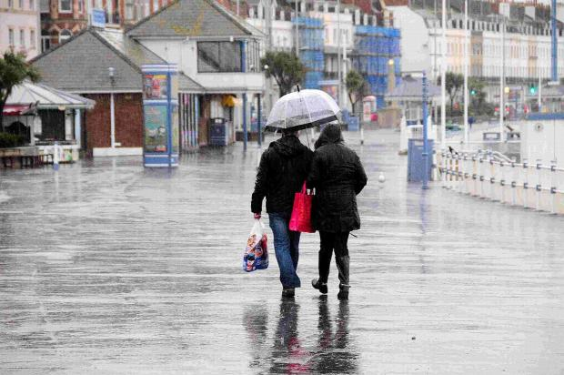 A Yellow weather warning is in place across Dorset for heavy and thundery downpours