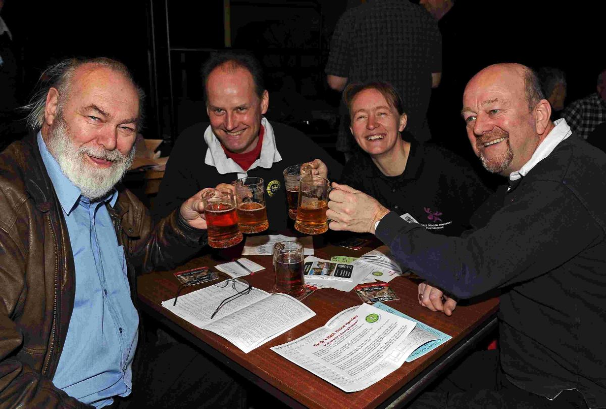 RECORD  BREAKING: Beerex at the Corn Exchange, Don, Frank, Rachel and Ian enjoy the event