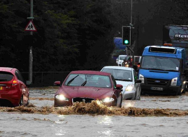 Dorset Echo: The scene at Winterbourne Abbas yesterday