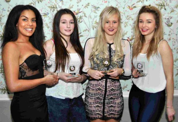 WEY WONDERS: Award winners, from left, Darcy Belle, Rebecca Chivers, Chloe Desmond and Nicole Birley.