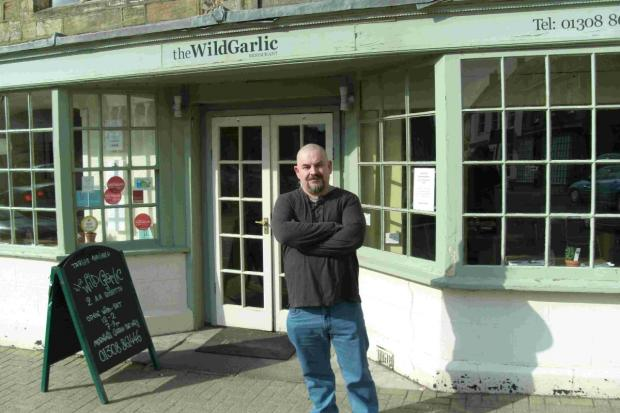 NEW VENTURE: Restaurateur Mat Follas outside the Wild Garlic in Beaminster Square