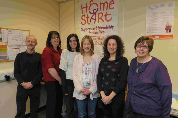 GREAT SUPPORT: Staff at Home Start West Dorset, which has offices in Poundbury
