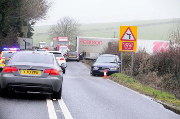 UPDATED: Lorry in collision with car on A35