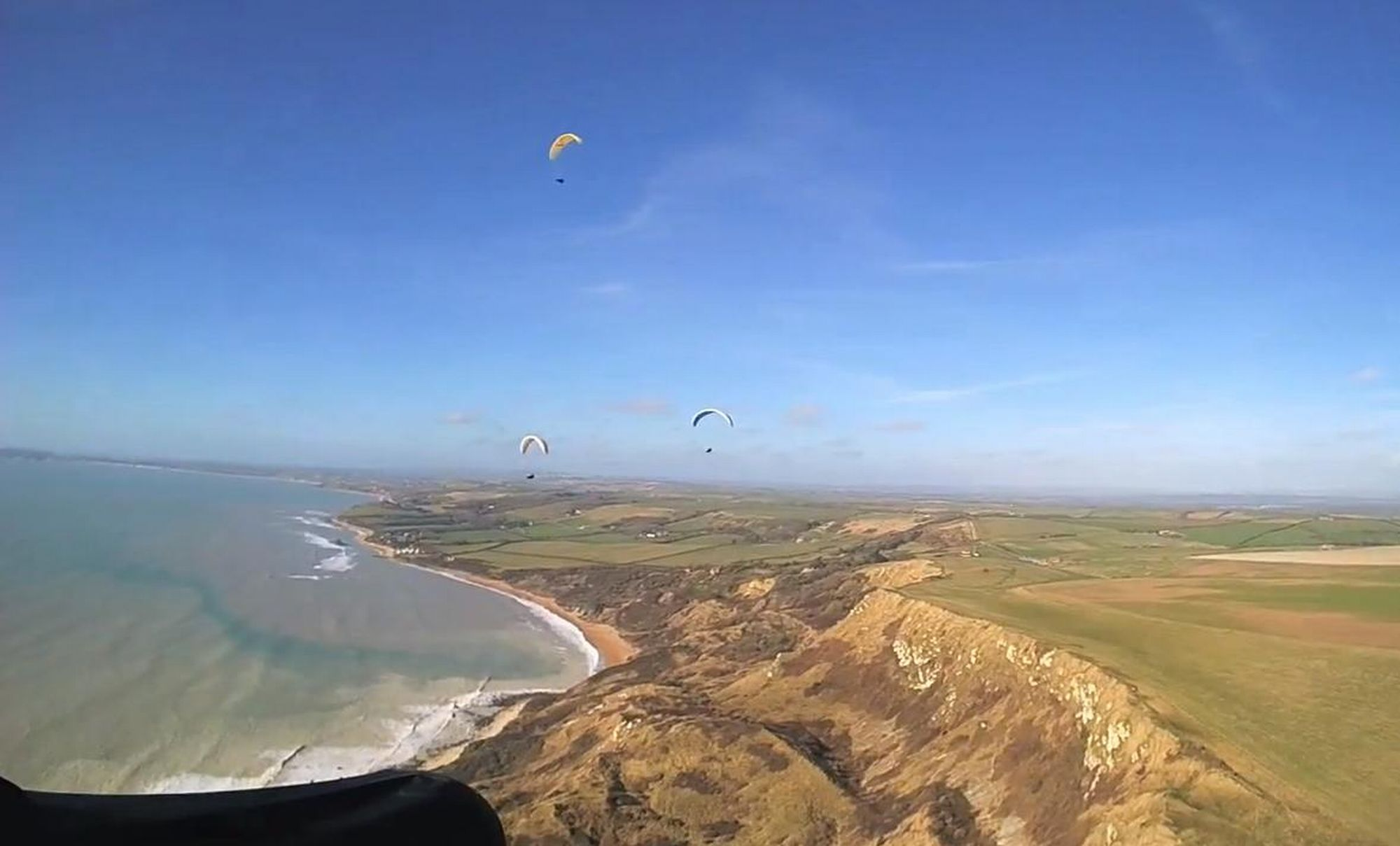 FLYING HIGH: Rare glimpse of Jurassic Coast
