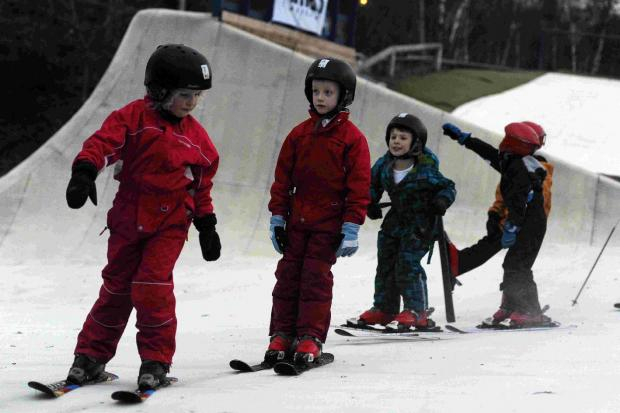 Young skiers get in on the action at Dorset Snowsport Centre at Warmwell Holiday Park