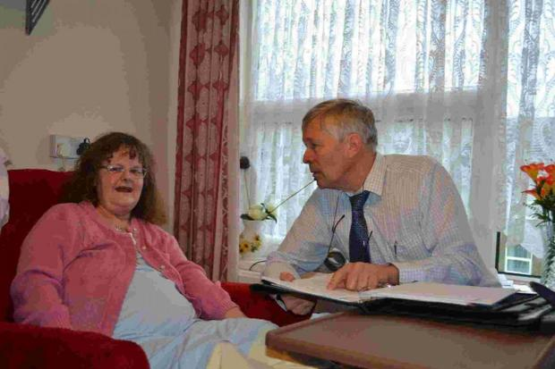 Dorset Echo: Magna's independent living manager John Bloxham with resident Linda Riggs