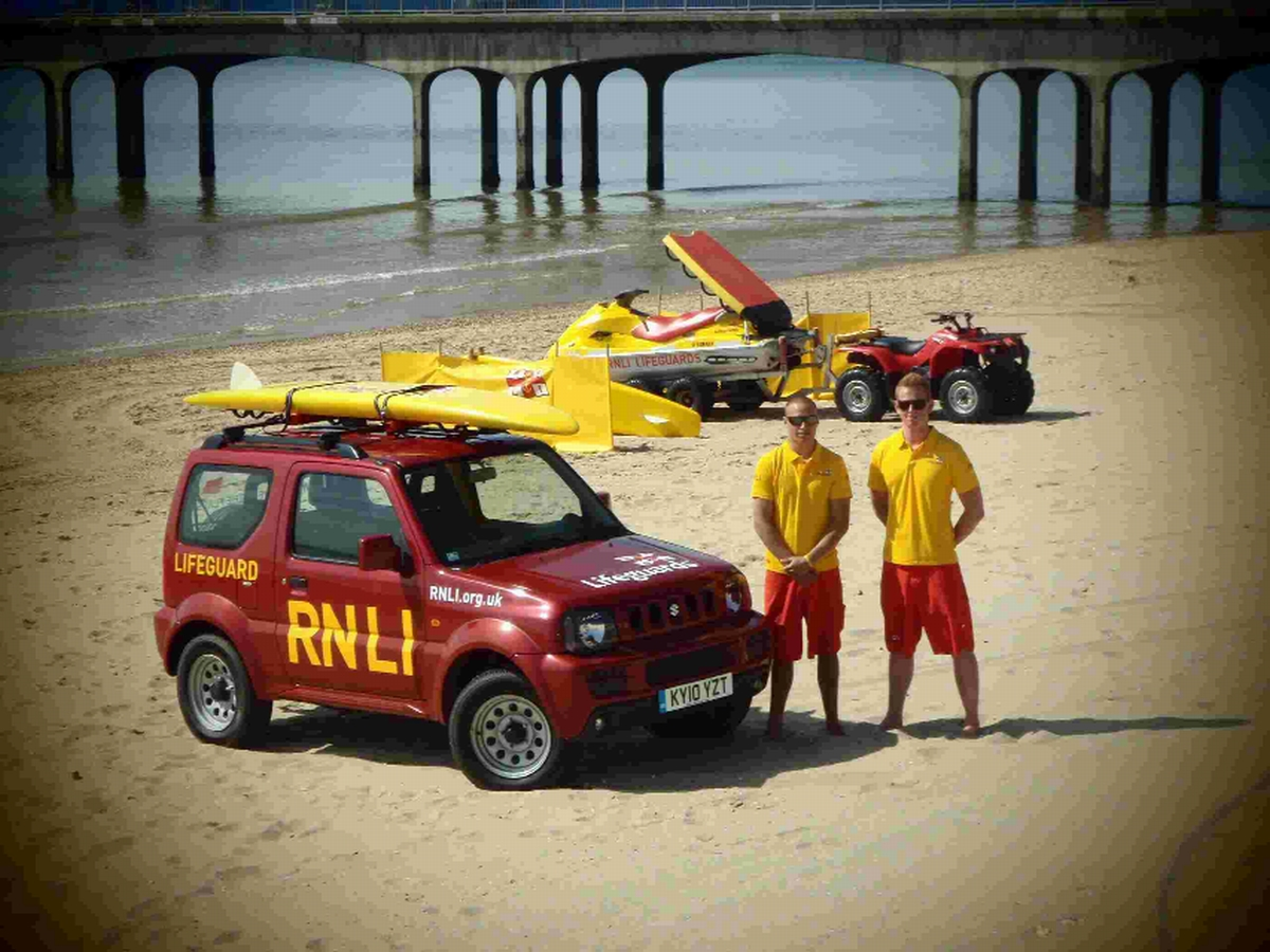 Lifeguards on the beach