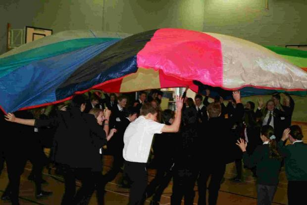 Dorset Echo: TRAINING: Anti-bullying day teamwork exercise