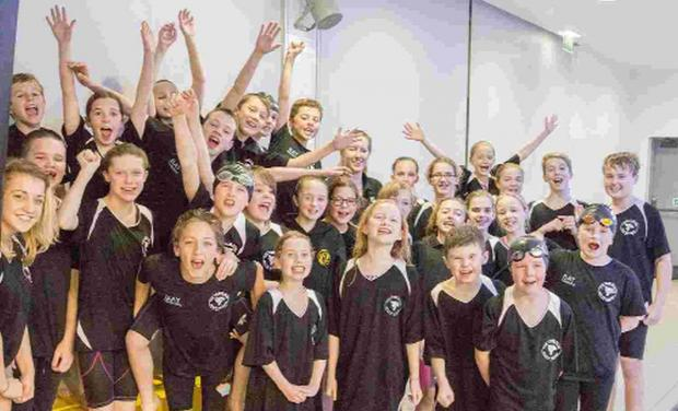 GOOD TIMES: Tornadoes of South Dorset celebrate their Dorset Novice League victory