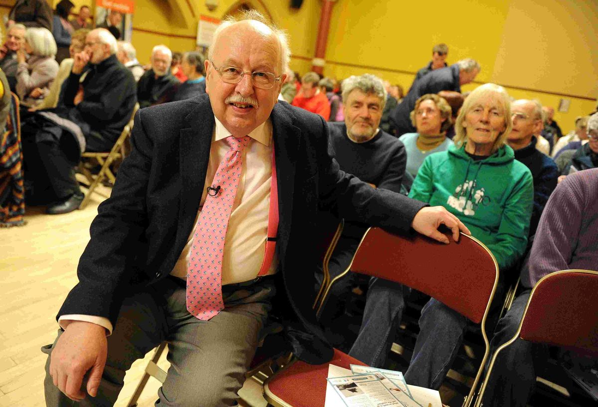 LECTURE: Michael Fish at the Corn Exchange   Picture: FINNBARR WEBSTER