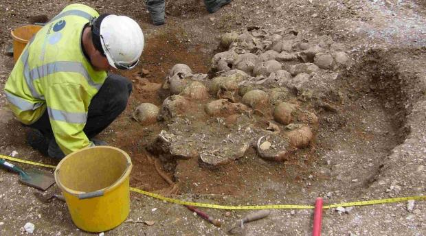 REMARKABLE FIND: Viking burial pit on the Ridgeway