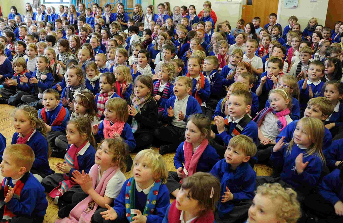 LITTLE STARS: St Andrew's School children take part in the national Sign2Sing project