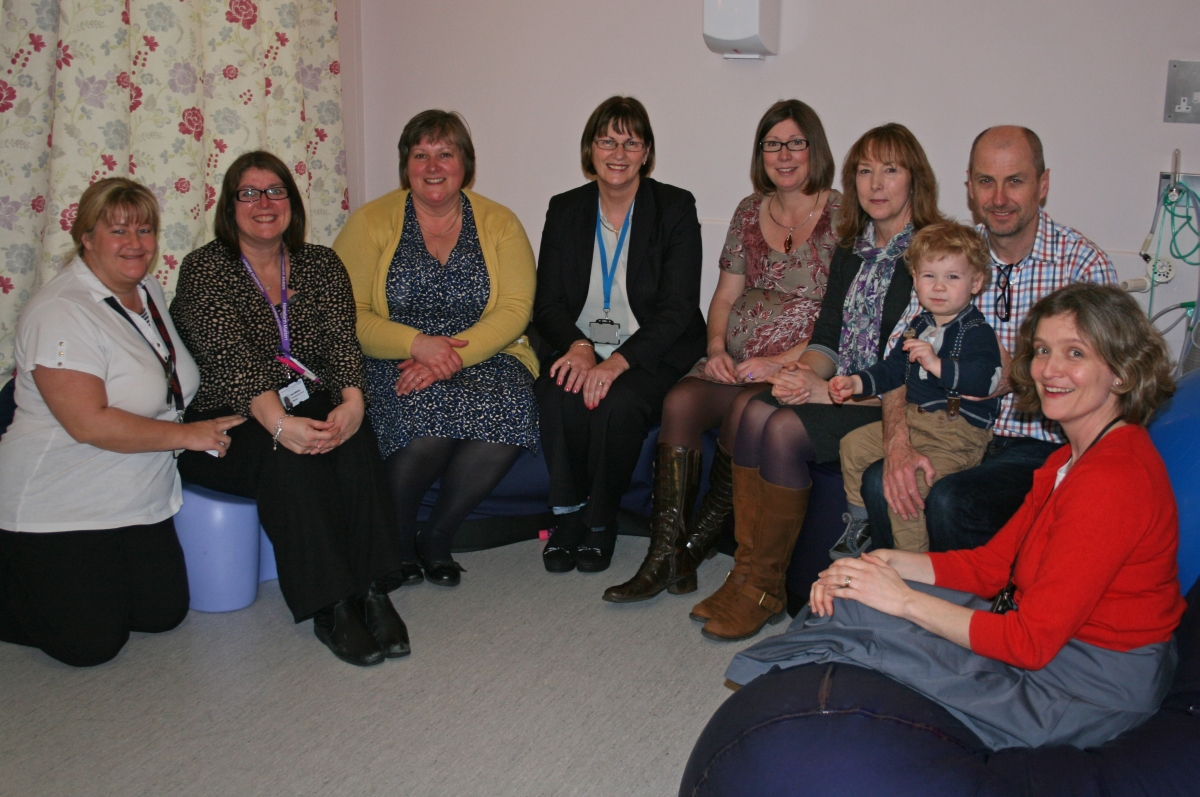 Fundraising mum opens new low-risk birth room at Dorset County Hospital