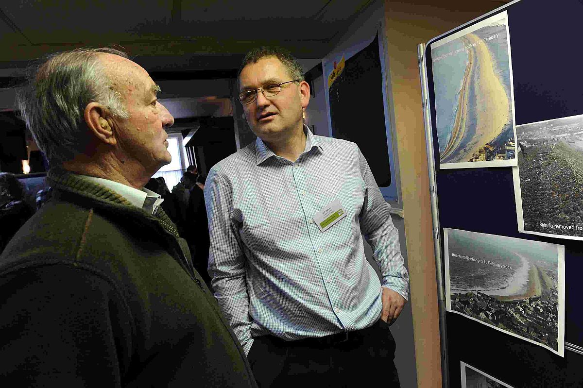 Neil Watson, coastal engineer, outlines Chesil Cove repairs