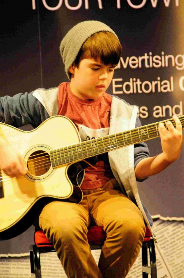 Dorset Echo: HIGH NOTE: Cameron March performing on stage