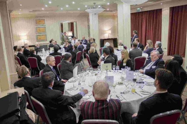 SUPPORT: MP Oliver Letwin talking at the Jurassica dinner