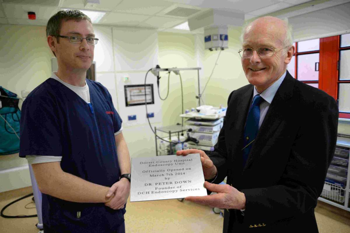 STATE-OF-THE-ART FACILITY: Dr Peter Down, right, opens the unit with Charge Nurse James Childs