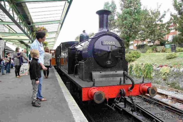 BACK IN TIME: Victorian loco M7 No.30053 at Swanage station