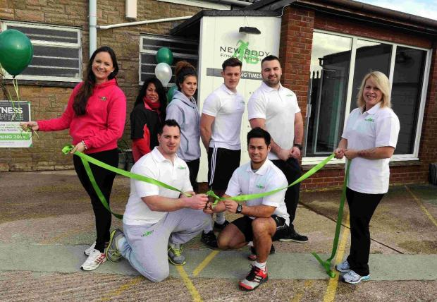 OPEN FOR BUSINESS: New Body Fitness Weymouth, opens to public, co-run by Julien Lawes, (crouching right) and Nick Bell (left)
