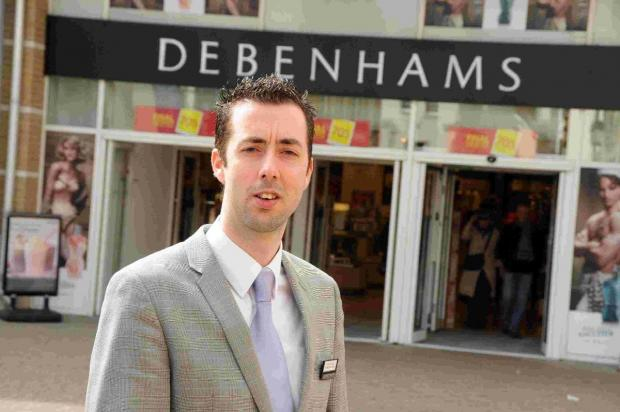 NEW CHALLENGE: Debenhams' manager Craig Tizard