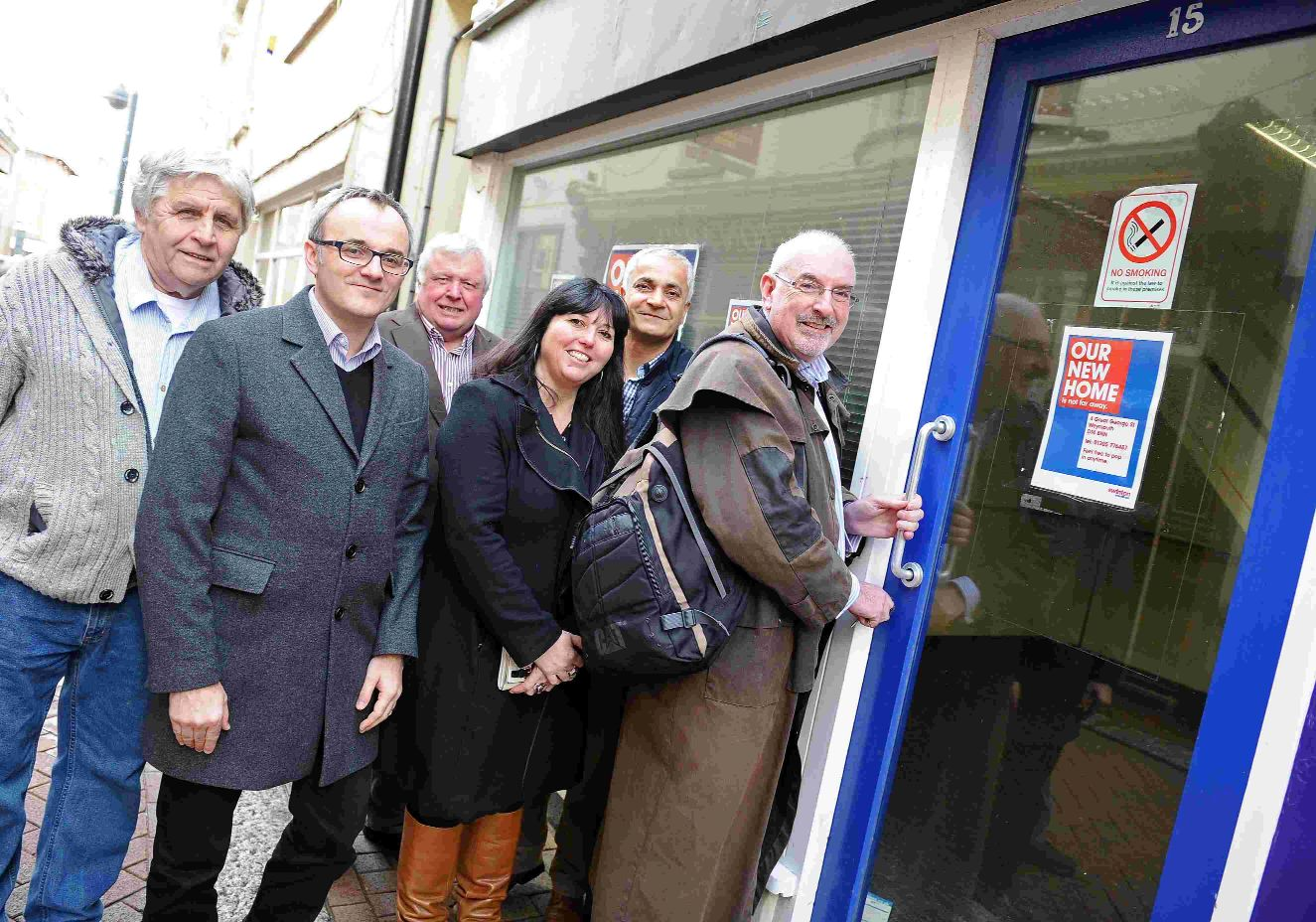 Weymouth BID new offices, Nigel Reed, right and committee members