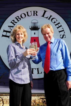 Nigel and Ysanne Williams celebrate the beginning of their new venture