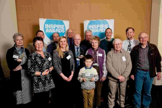 WELL DONE: Members of the Diabetes UK West Dorset Local Group receive their award