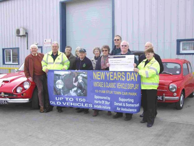 Classic car rally raises £1,500 for charity