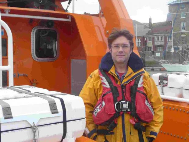 SKILLED UP: Justin Measures has been put through his paces with the RNLI