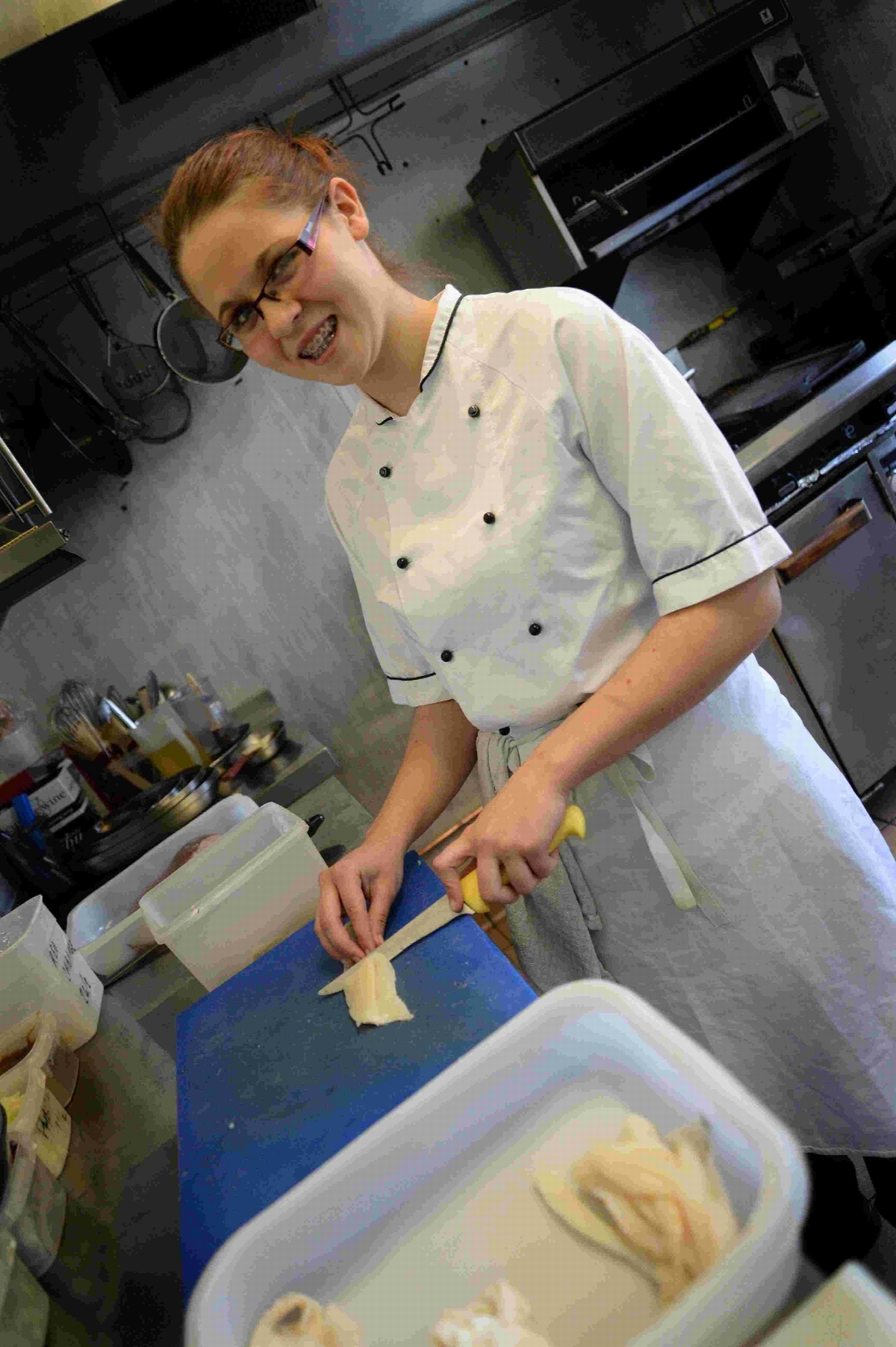 COOKING UP A STORM: Apprentice chef Crystal Old