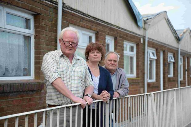 Dorset Echo: ANGER: From left: Nic Flanagan, Ros Kayes and John Holker. Picture: JOHN GURD