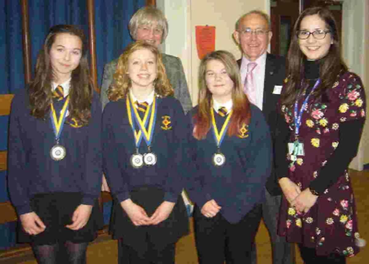 VOCAL GROUP: Semi-final winners of the Rotary Youth Speaks competition