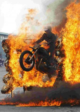BLAZE OF GLORY: The Royal Signals Motorcycle Display Team