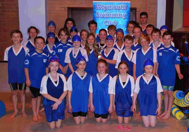 TOP DRAWER: Weymouth Swimming Club finished as top club at the third Novice League gala