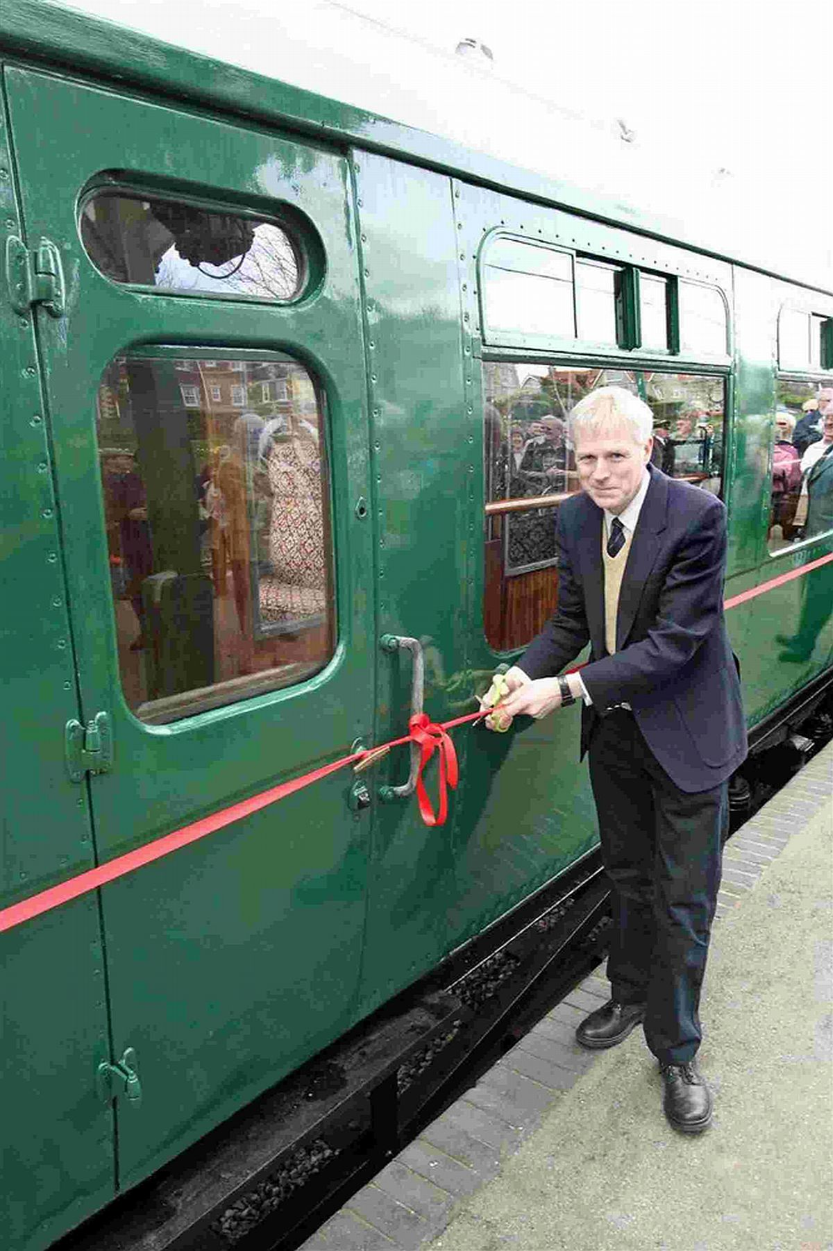 Classic carriage is welcomed back on track at heritage railway