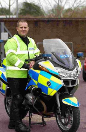 HERE TO HELP: BikeSafe co-ordinator PC Chris Smith