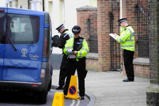 Dorset Echo: Police carry out road safety blitz in Dorchester