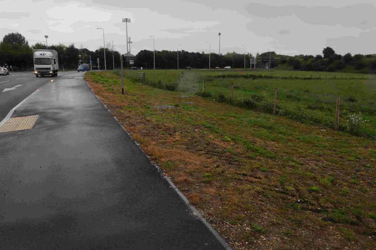 HOLD-UP: Land along the A35 that could become the site of a park and ride scheme
