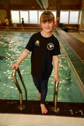 MAKING A SPLASH: Sport Relief swimmer Charlotte O'Dowd, 6