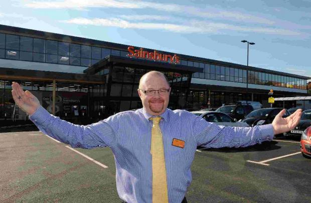 HELPING HAND: Manager Steve Jones at the new Sainsbury's, Weymouth
