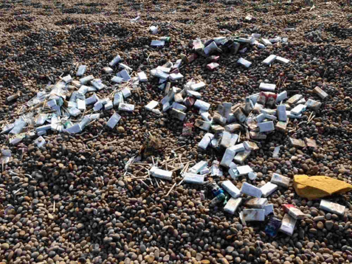 Help clear up Chesil Beach