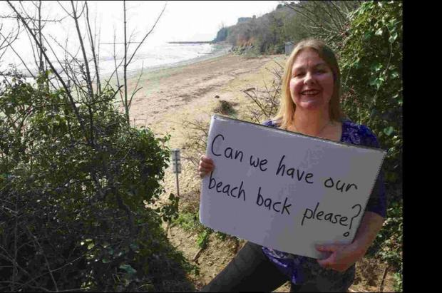 Dorset Echo: Clare Sutton at Sandsfoot Beach