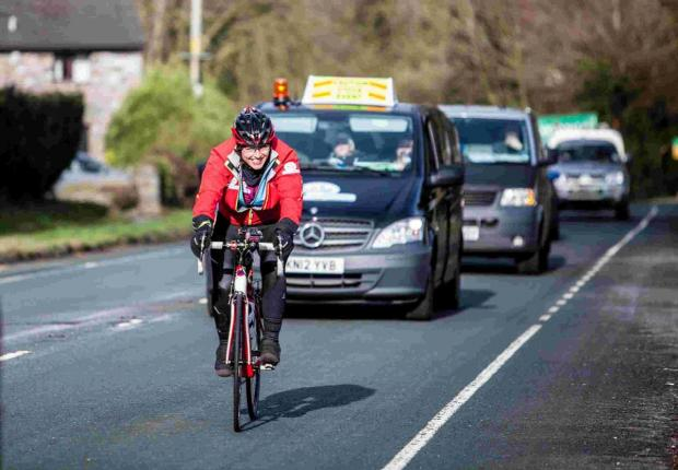 Dorset Echo: ACTION: A cyclist hits the road