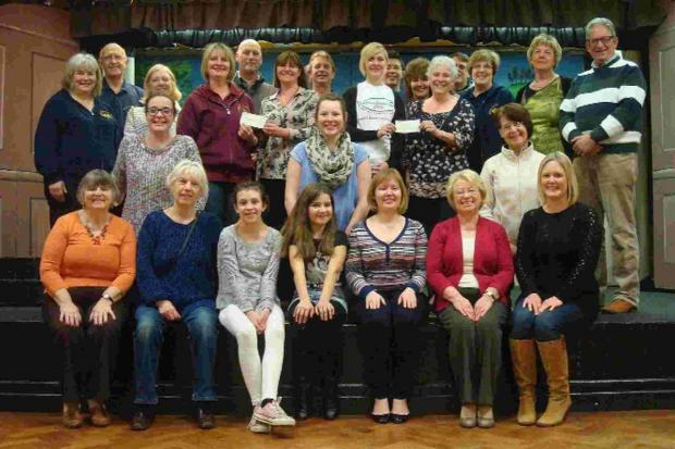 Dorset Echo: Preston Pantomime Group present donation cheques to Jane Carter, and Fiona Hansford of Diverse Abilities Plus.