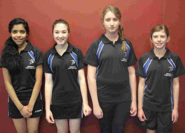 Dorset Echo: BUDDING TALENTS: Snigdha Maganti, Lily Cherry, Erin Stow and Harriet Pullen