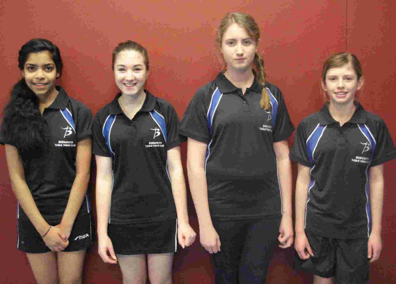 BUDDING TALENTS: Snigdha Maganti, Lily Cherry, Erin Stow and Harriet Pullen