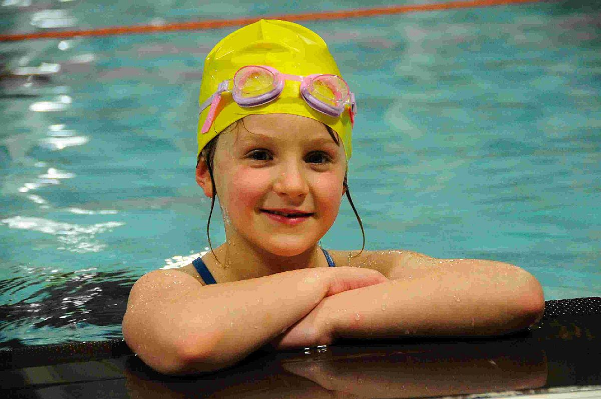 IN THE SWIM: Charlotte O'Dowd at Osprey Leisure Centre