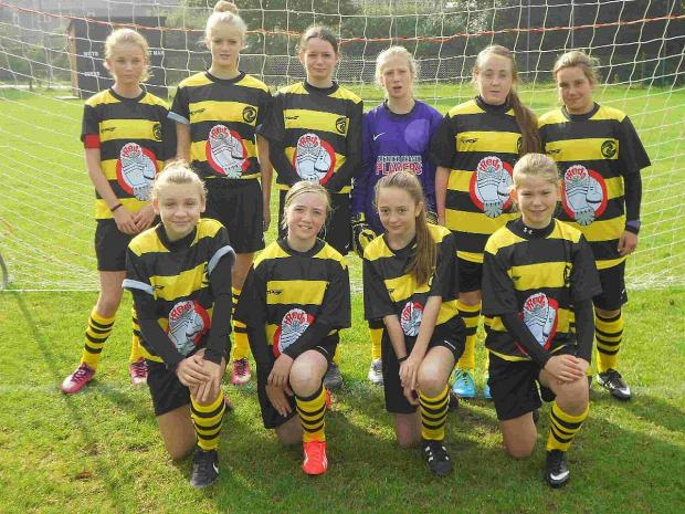 READY FOR ACTION: Southside Angels before their clash with Corfe